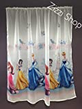 Licensed Cartoon Voile Net Curtain with wrinkling tape- PRINCESS- 150 cm width x 143 cm drop