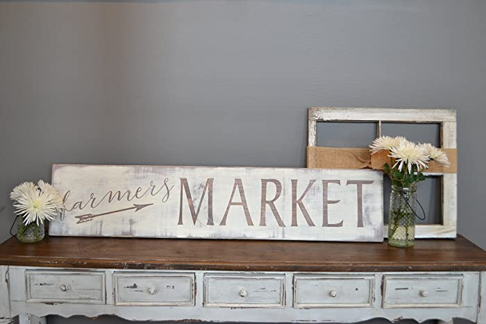 Attractive Farmers Market Sign   Farmhouse Sign   Rustic Sign   Kitchen Decor