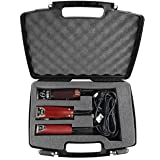 CASEMATIX Hair Styling Barber Case Compatible with Clipper, Trimmer, Finisher - Barber Bag for Stylist Holds Oster…
