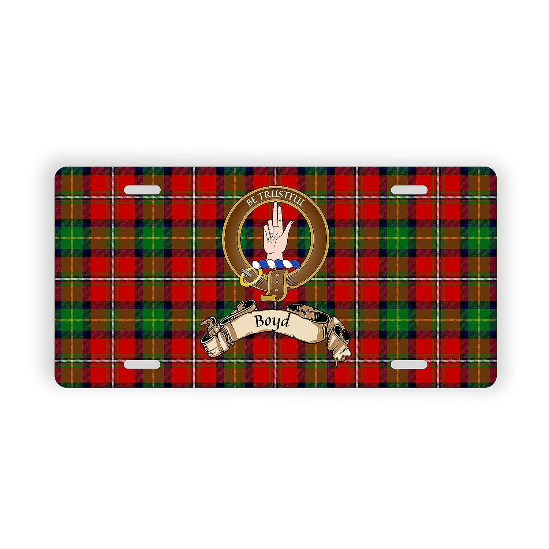 Boyd Scottish Clan Tartan Novelty Auto Plate