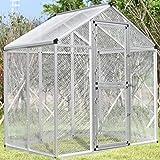 Bestmart INC LARGE Aluminum Bird Cage Walk In Aviary W/4Peg NEW ( 3 Doors)