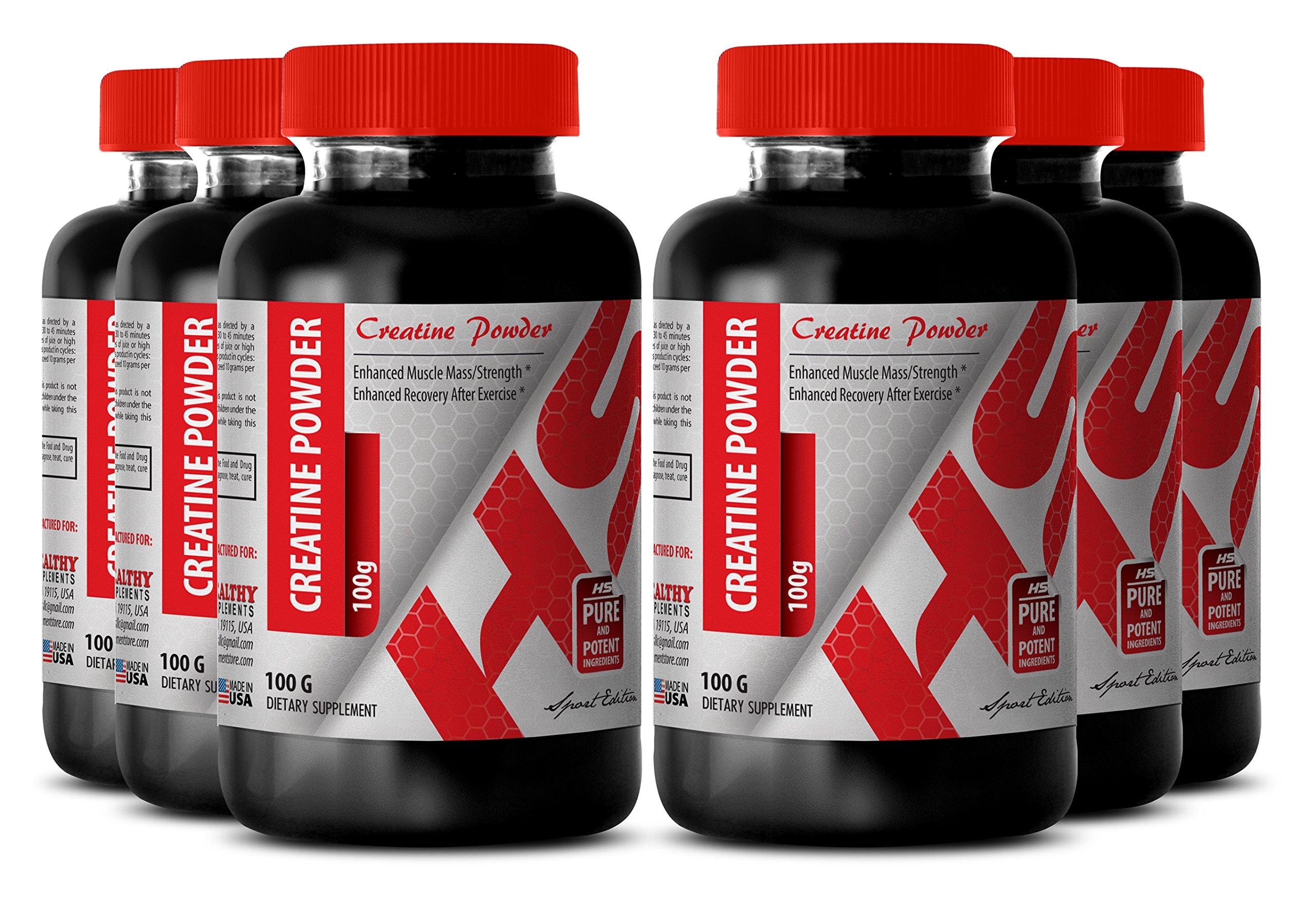 Creatine weight gainer - CREATINE POWDER 100G - build muscle mass (6 Bottles)