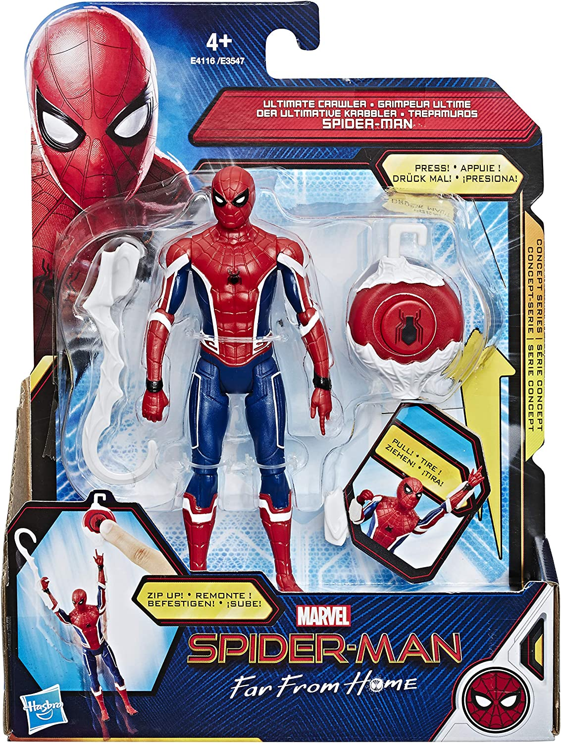 Hasbro Marvel Spider-Man- Juego Far from Home Ultimate Crawler, Multicolor, E4116ES0