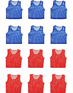 b61e20d72 FigureOut Sports Scrimmage Team Practice Nylon Mesh Vests Pinnies Jerseys  Youth Children Soccer, Volleyball,