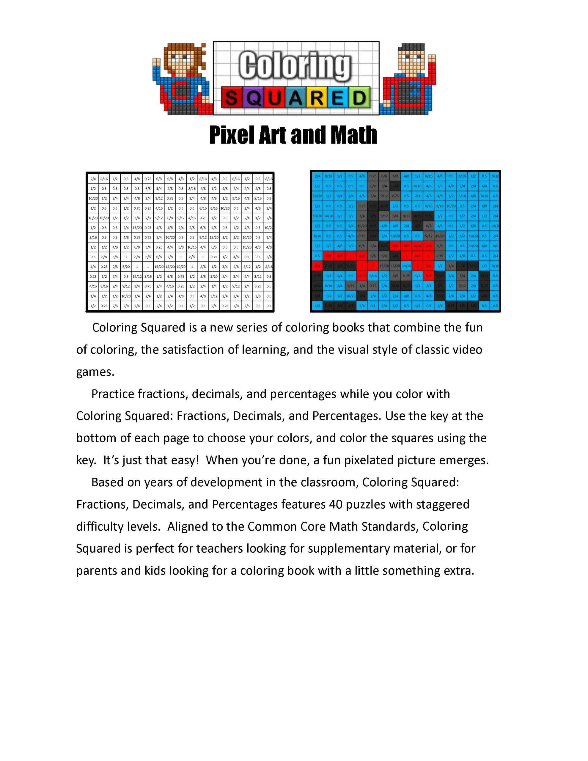 Coloring Squared: Multiplication And Division: Cameron Krantzman:  9781939668080: Amazon.com: Books