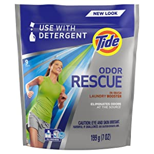 Tide Odor Rescue with Febreze Odor Defense Laundry Pacs in-Wash Detergent Booster, 9 Loads, 7 Oz