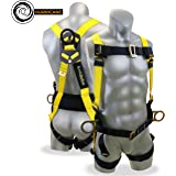 KwikSafety HURRICANE 3D Premium Fall Protection Body Safety Harness w/Back Support   OSHA Approved ANSI Compliant Industrial Roofing Tool   Construction Free Fall Arrest Personal Protection Equipment