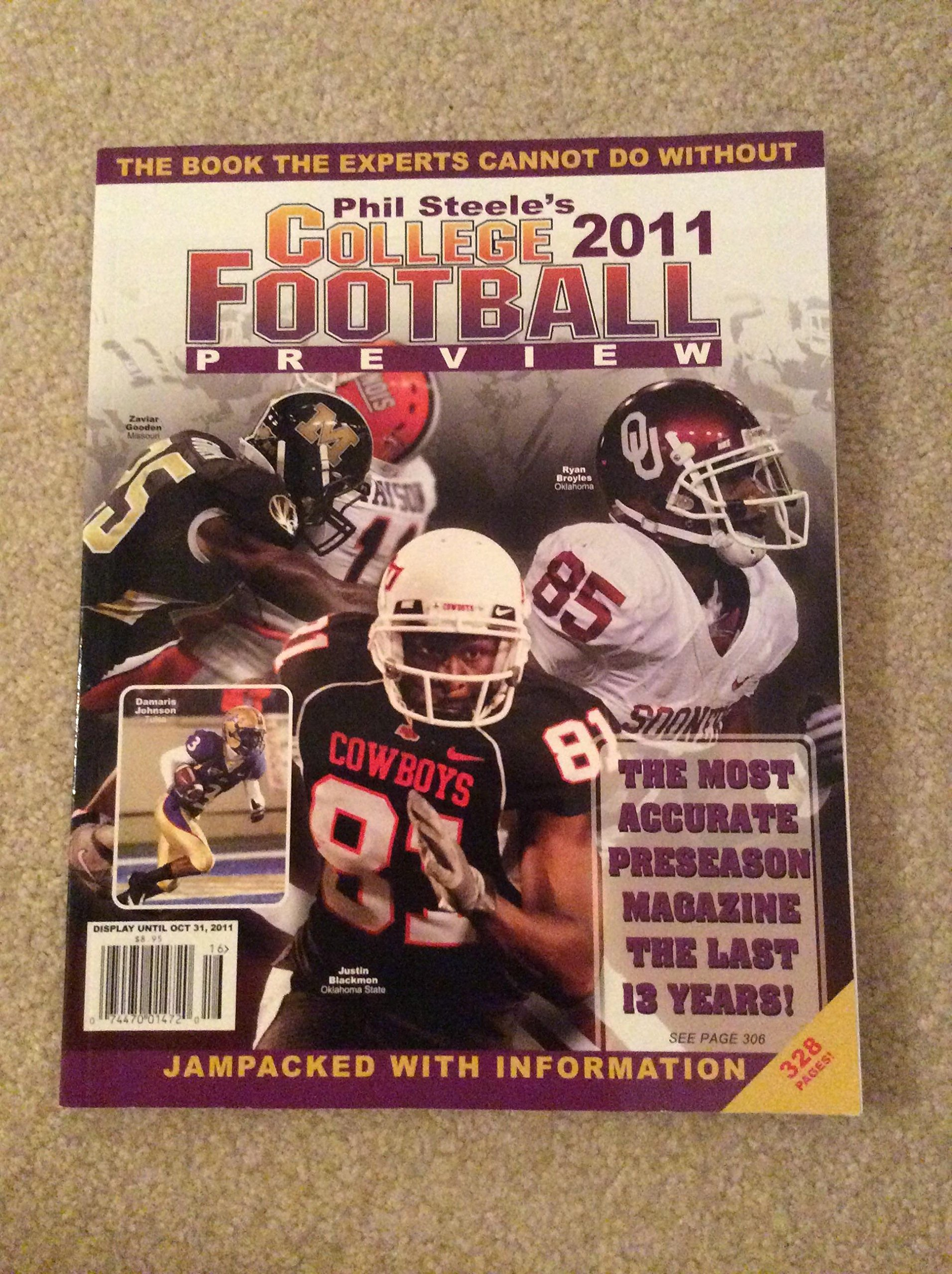 2011 PHIL STEELE'S COLLEGE FOOTBALL PREVIEW 2011 NEW 328 PAGES