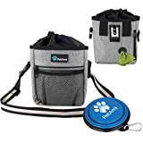 PetAmi Dog Treat Pouch | Dog Training Pouch Bag with Waist Shoulder Strap, Poop Bag Dispenser and Collapsible Bowl…