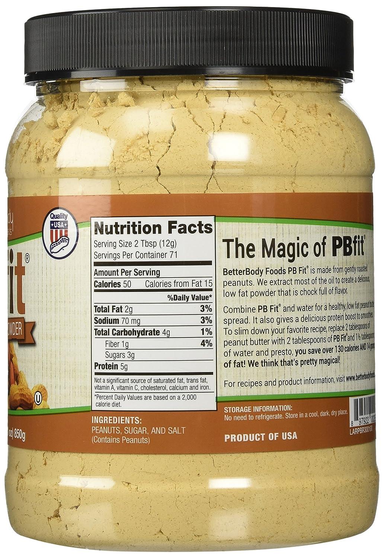 "BetterBody Foods PB Fit ""USDA Organic"" Powder, Peanut Butter, 30 Ounce"