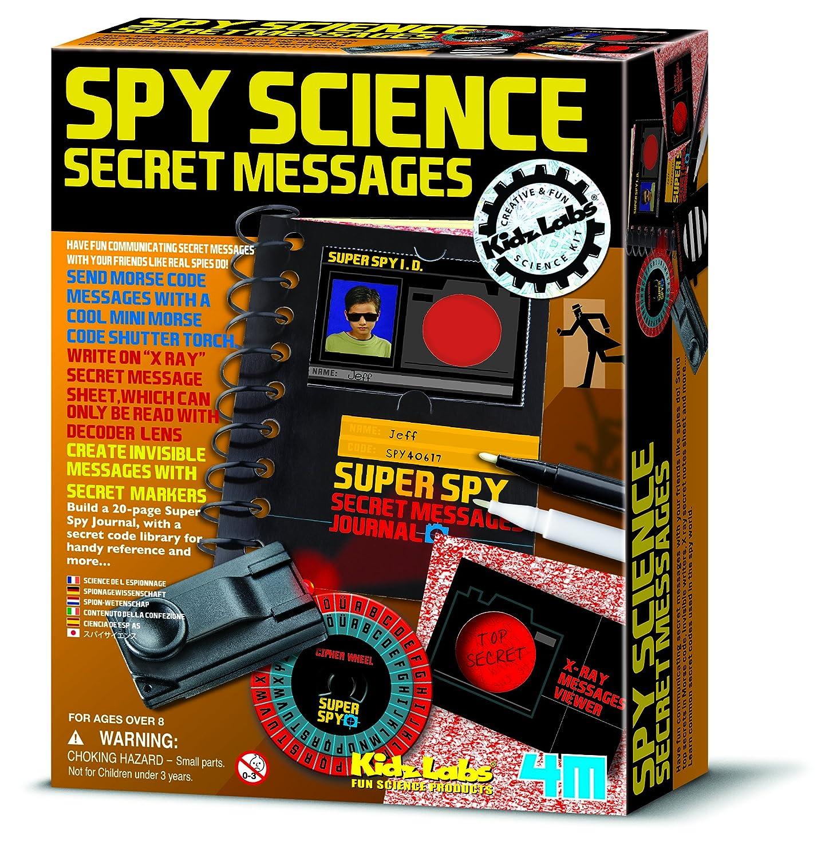Kidz Labs - Spy Science - Secret Message Kit - Boys Girls Children Kids - Secret Agent Activity Set - Latest Birthday Gift Present Fun Games & Toys Idea Age 8+ Little Leanerss