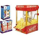Nostalgia KPM200BUN Vintage Collection 2.5-Ounce Kettle Popcorn Maker Bonus Holiday Kit