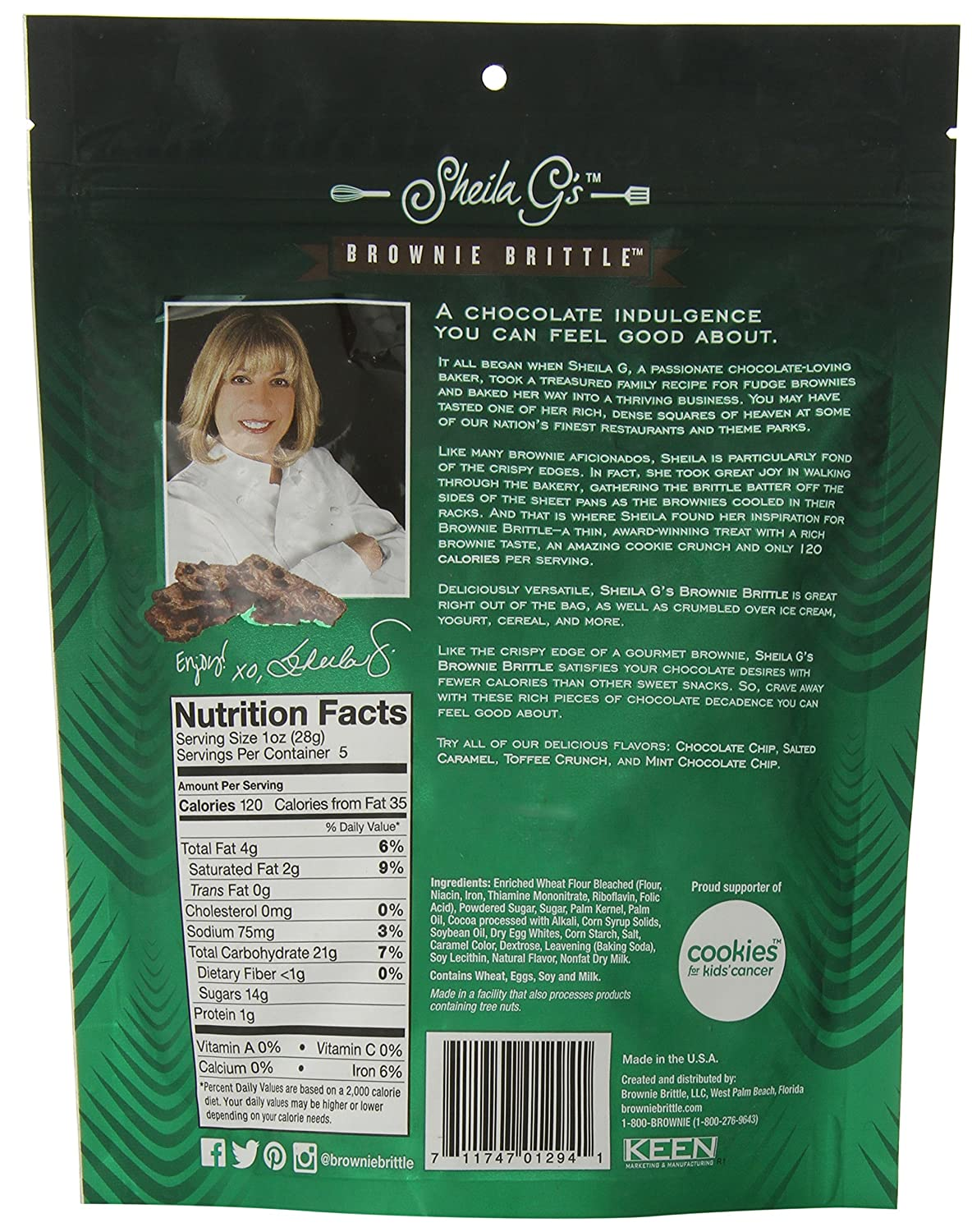Amazon.com : Brownie Brittle, Mint Chocolate Chip, 5 Oz Bag (Pack of ...