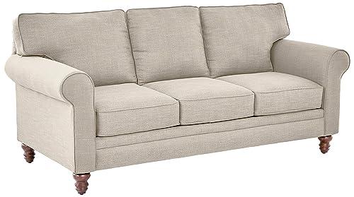 Ravenna Home Randall Rolled Arm Sofa, 83 W, Cream