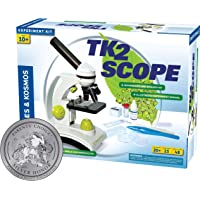 Thames & Kosmos TK2 Scope Biology and Durable Metal Microscope Set with Glass Optics, 25 Experiments and 48 Page Full…