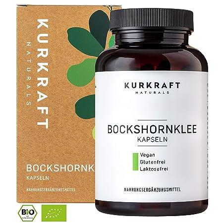 Kurkraft® Bockshornklee Aktiviert - Bio-Zertifiziert & Laborgeprüft - Vegan - 2400mg (600mg je Kapsel) - 180 Kapseln - ohne Z