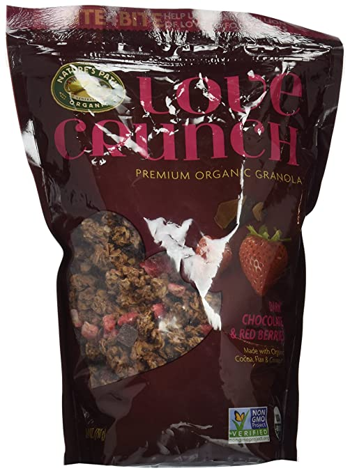 Nature's Path Love Crunch Premium Organic Granola, Dark Chocolate and Red Berries, 26.4 Ounce