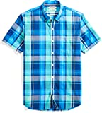 Amazon Brand - Goodthreads Men's Slim-Fit Short-Sleeve Large-Scale Plaid Shirt