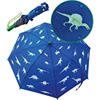 Paraguas con dinosaurios mágicos de HECKBO - Cambia de color si llueve - Plegable: cabe en cualquier mochila - Bandas…