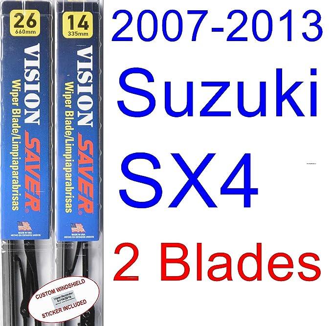 Amazon.com: 2007-2013 Suzuki SX4 Wiper Blade (Driver) (Saver Automotive Products-Vision Saver) (2008,2009,2010,2011,2012): Automotive