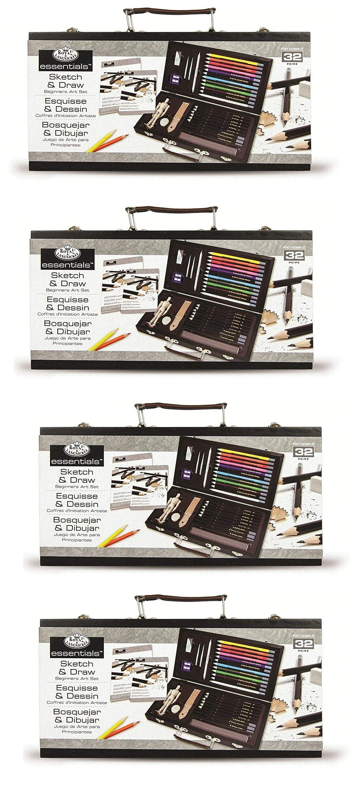 ROYAL BRUSH Essentials Art Sketching and Drawing Artist Set for Beginners Multicolor (4-Pack)