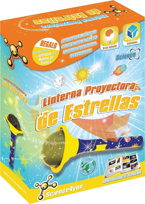 Science4you - Linterna proyectora de Estrellas - Juguete Educativo ...