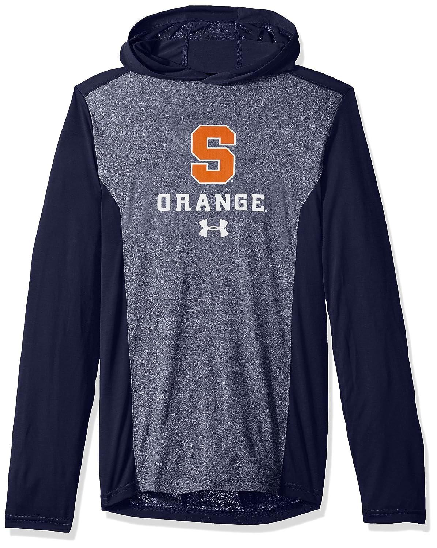 Navy Small Under Armour NCAA Syracuse Orange Mens NCAA Mens Triblend Hooded Long Sleeve Tee