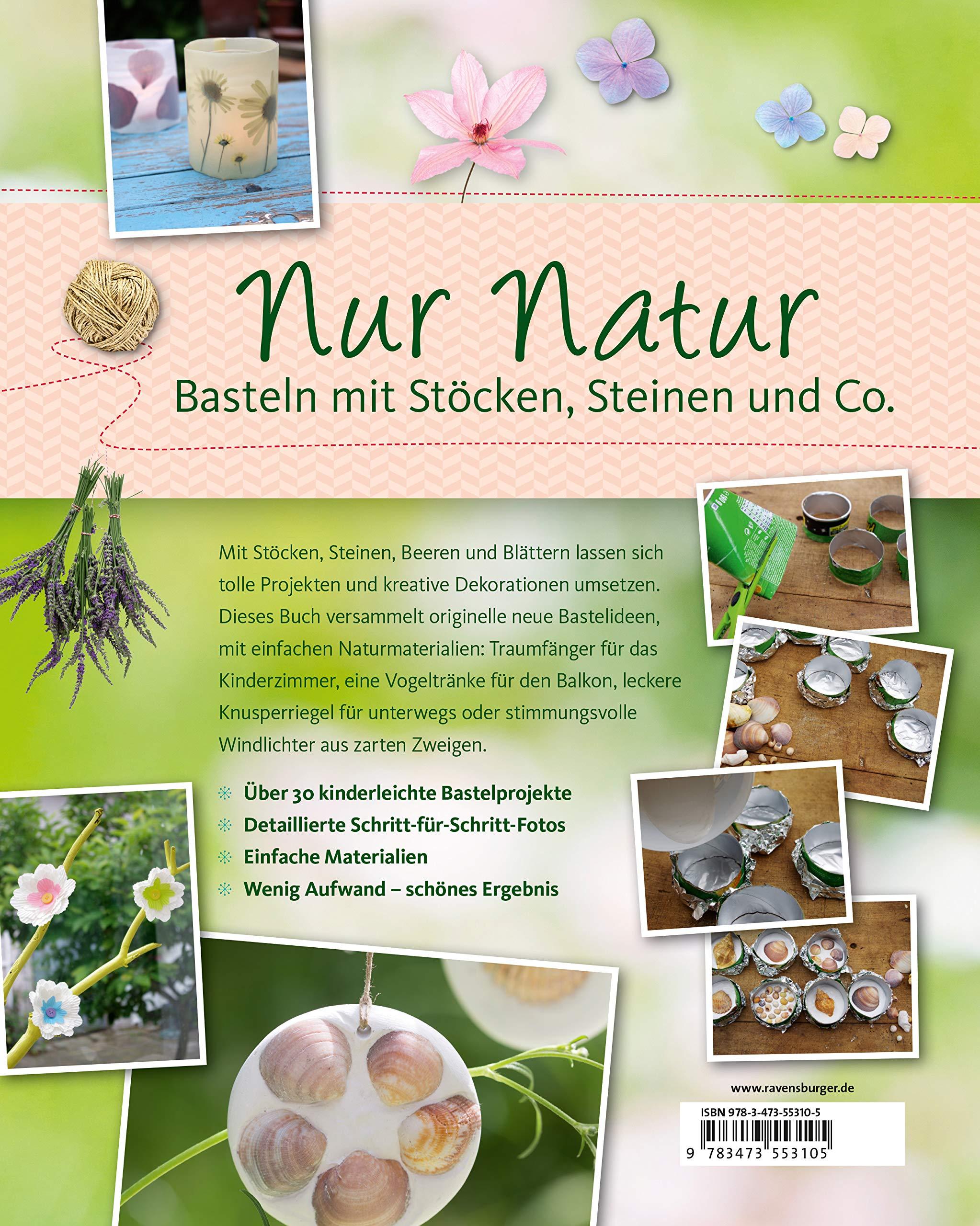 Nur Natur Basteln Mit Stöcken Steinen Und Co Amazonco