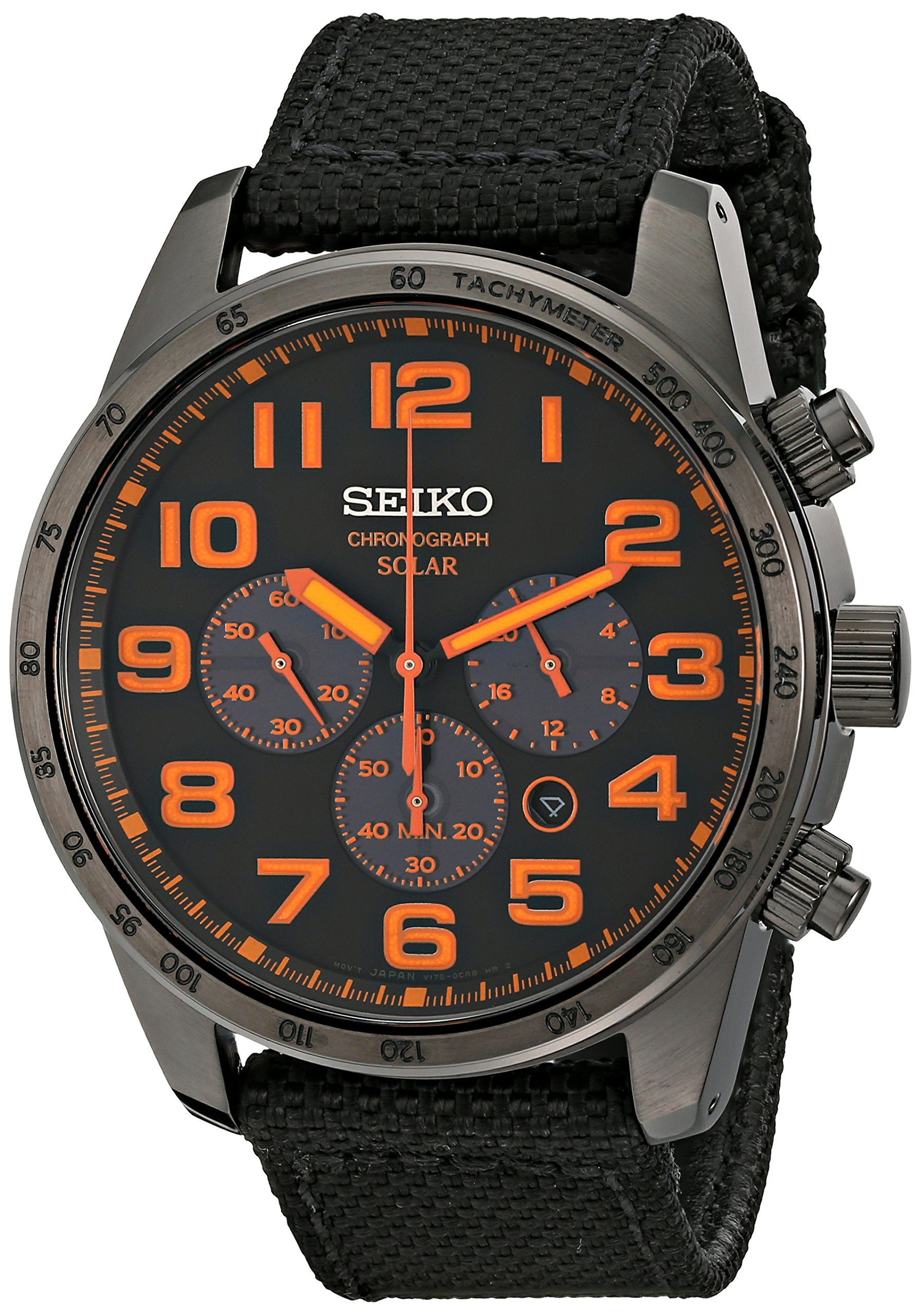 Seiko Men's SSC233 Sport Solar Brushed Stainless Steel Watch by Seiko