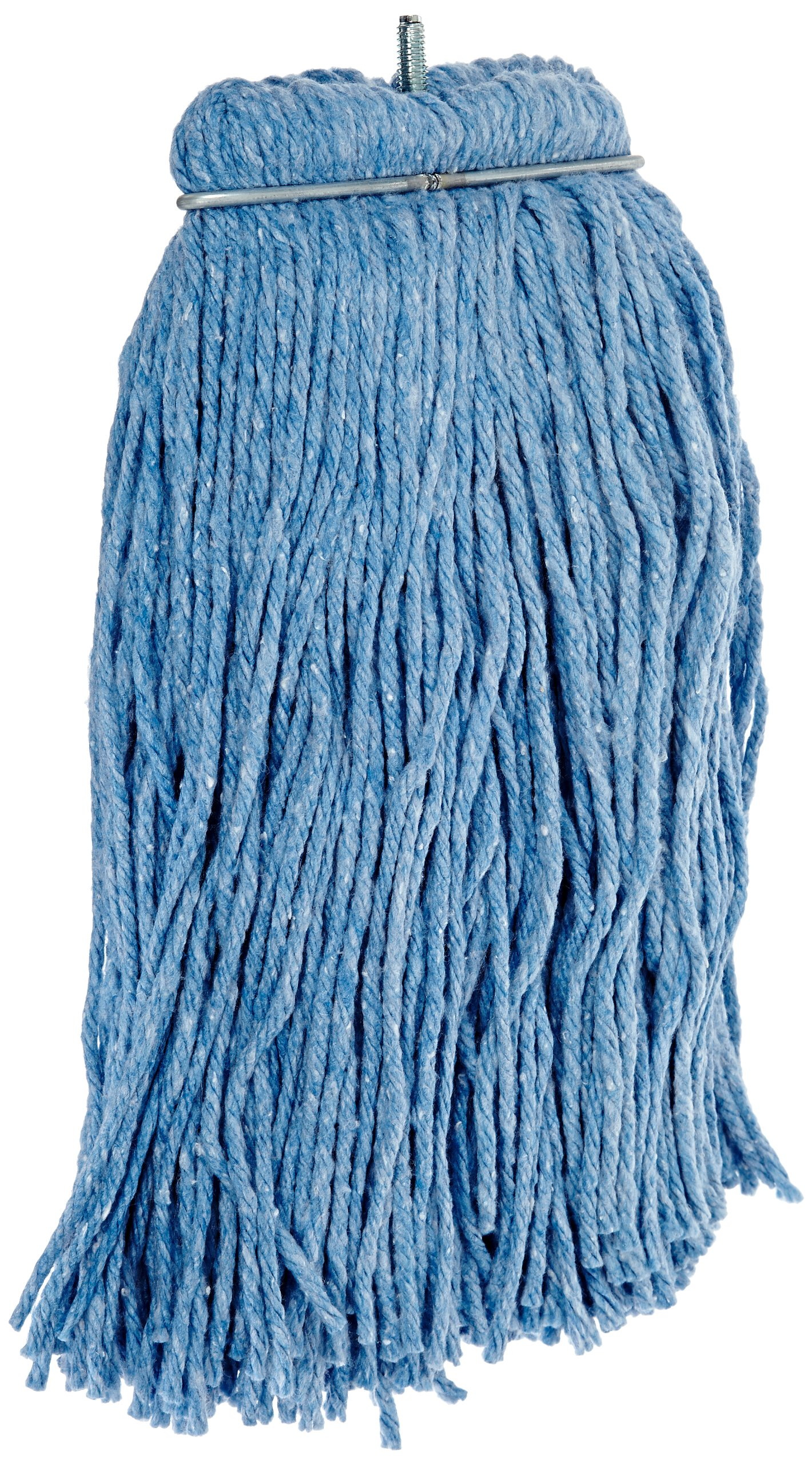 Impact 26116 Layflat Screw-Type Regular Cut-End Blend Wet Mop Head, 16 oz, Blue (Case of 12) by Impact Products