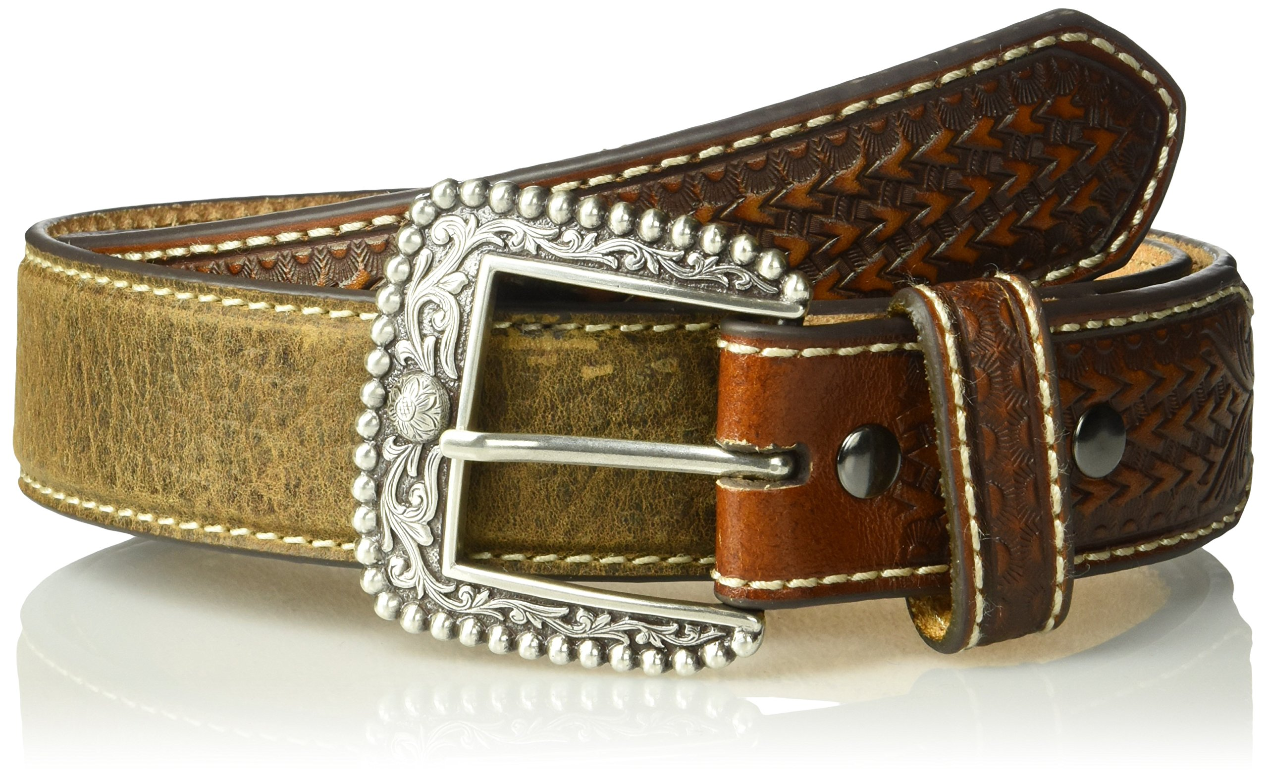 Ariat Men's Tan Billet Belt, Brown, 40