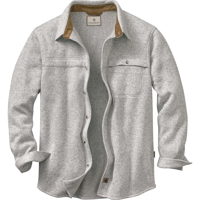 Legendary Whitetails Men's Silent Hide Sweater Fleece Button Up