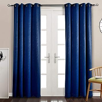 Amazon Com Mysky Home Blackout Curtain Panels For Bedroom Grommet