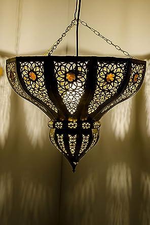 Marrakesch lámpara colgante de oro cal 45 cm E27 ...