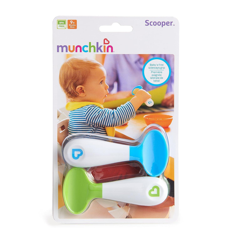 Amazon Munchkin 2 Piece Scooper Spoons Blue Green Baby