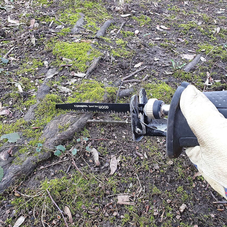 CONBRA /® Hoja de sierra rec/íproca para madera Dewalt apto para Bosch 240 mm de largo perfecto para cortes r/ápidos y rectos 5 piezas hoja de sierra de sable Makita /& Black y Decker Sawer Saws