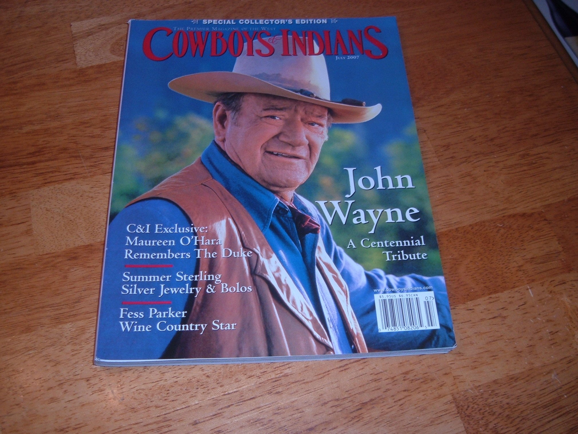 COWBOYS & INDIANS magazine July 2007 (The Premier Magazine Of The West, www.cowboysindians.com, Volume 15 Number 5, John Wayne - A Centennial Tribute, Special Collector's Edition, C&I Exclusive: Maureen O'Hara Remembers The Duke, Silver Jewelry & Bolos, Fess Parker) pdf