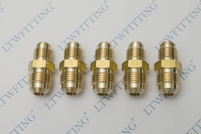 Pack of 5 Brass Flare Tube Fitting LTWFITTING Brass 5//8 OD Flare Cap