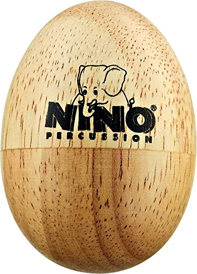 6er-Set Percussion Egg Shaker Ei Handrassel Kinder Holz Musikinstrument