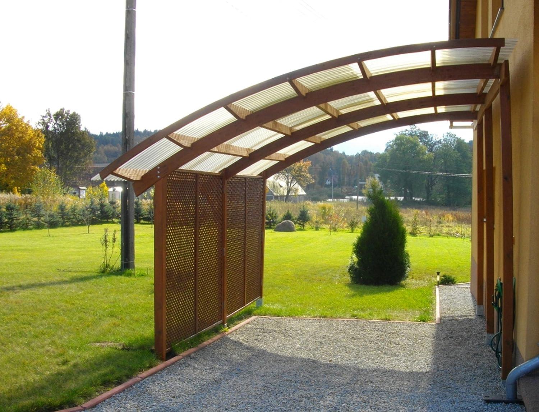 Ludlow Carport aus Holz mit PVC Überdachung, Carpot Holz kaufen, Carport kosten