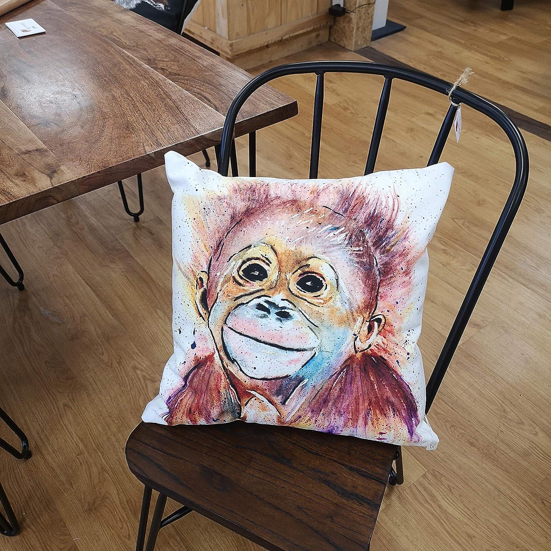 Monkey Business Luxury Cotton Canvas Cushion