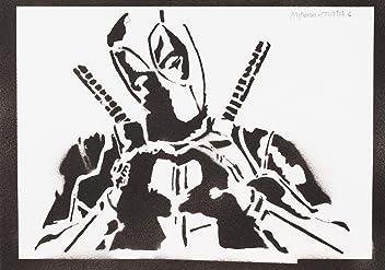moreno-mata Deadpool Handmade Street Art - Artwork - Poster