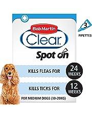 Bob Martin Flea & Tick Clear Fipronil Spot-on for Medium Dog, 3 Tubes