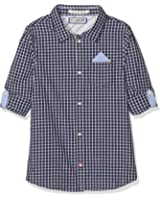 Scotch & Soda Shrunk Jungen Hemd Blue Series Shirt with Pocket Square