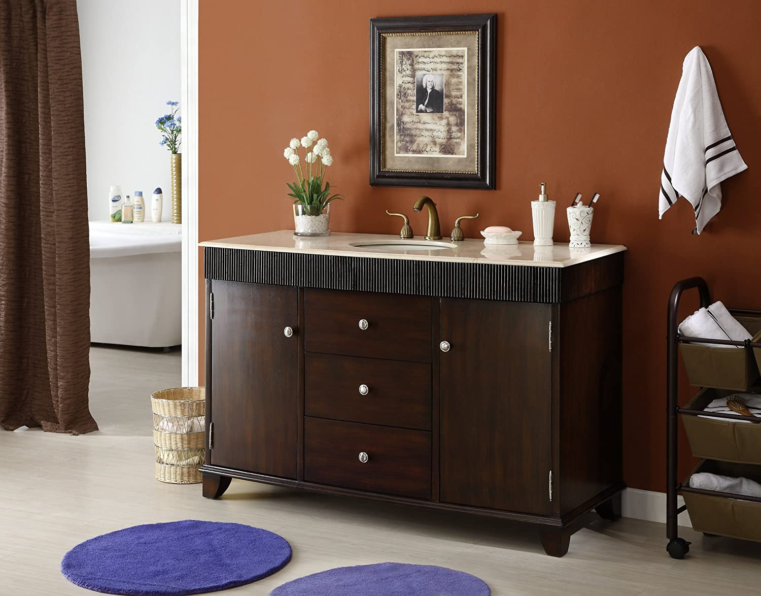 vanity modern org sink cabinet single inch viewfindersclub double walnut bathroom