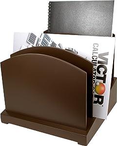 Brown File Organizer - Wood Desk Organizer