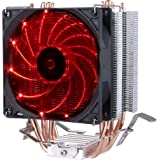 upHere C92R with PWM Fan, Four Direct Contact Heat Pipes, Unique Blade Design and Red LEDs Cooling(C92R)