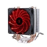 upHere Freezer - Dissipatore di processore con ventola da 92mm PWM -cpu cooler.rosso