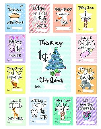 milestone baby cards 43 unique gender neutral landmark baby keepsake photo cards plus - Gender Neutral Christmas Gifts