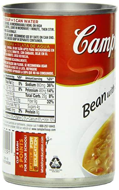 Campbells Condensed Soup, Bean with Bacon, 11.5 Ounce (Pack of 24)